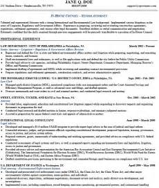 In House Employment Lawyer Sle Resume by Prosecutor Resume Sle