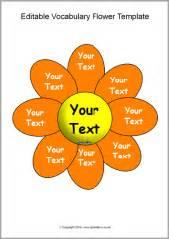 editable vocabulary flower templates sb10847 sparklebox