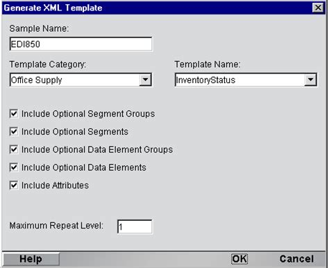 xml template editor getting started with the edi component editor