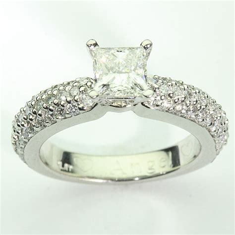 81094 pave engagement ring diamonds