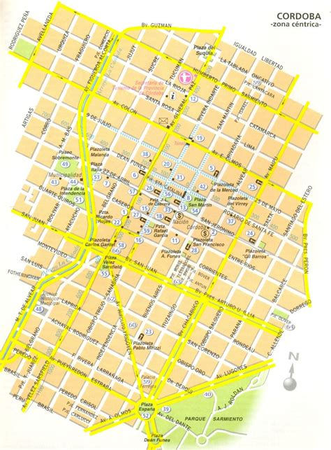 cordoba map large cordoba maps for free and print high