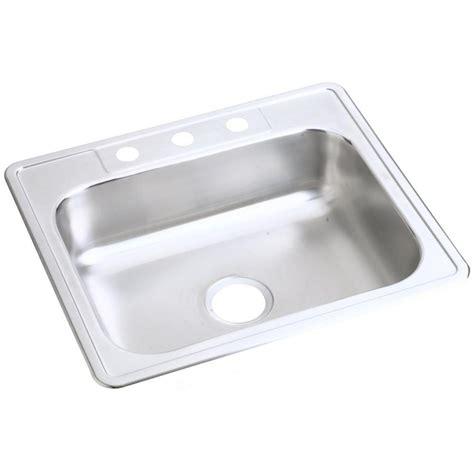 dayton bowl kitchen sink elkay dayton drop in stainless steel 25 in 4 single