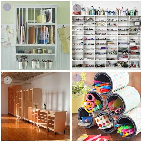 creative storage laura ashton art studio storage ideas
