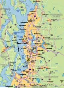 Map Of Seattle by Seattle Washington Map