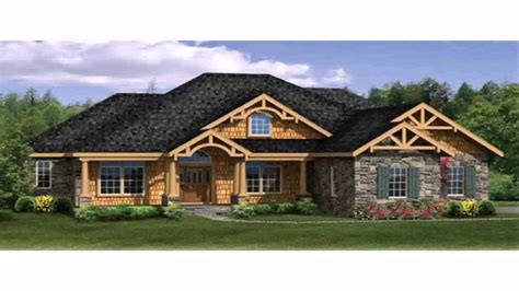 Ranch Home Plans With Wrap Around Porches by Craftsman Style House Plans One Story Ranch With Basement