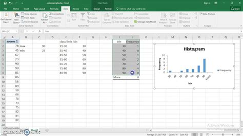 use excel 2016 to make frequency distribution and