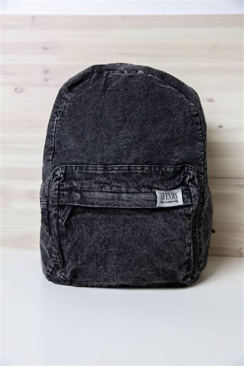 Black Backpack afends nevermind denim backpack black acid wash from