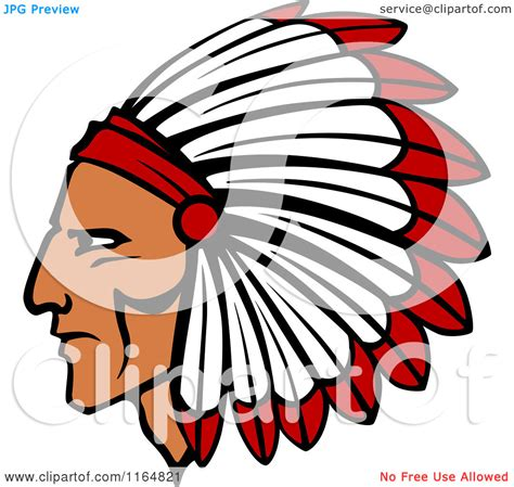 indian clipart american clipart headpiece pencil and in color