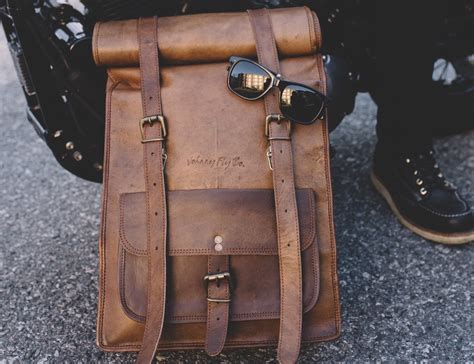 Fy Roll Bag leather rolltop backpack by johnny fly co 187 gadget flow
