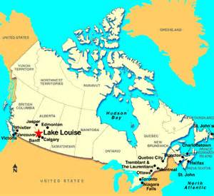 lake louise map canada map travel vacations
