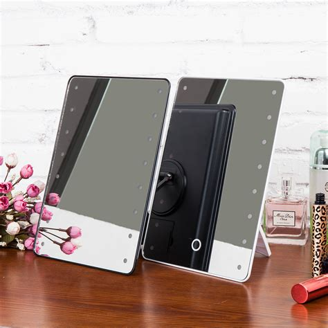 portable mirror with lights portable 16leds touch screen makeup mirror lighted make up