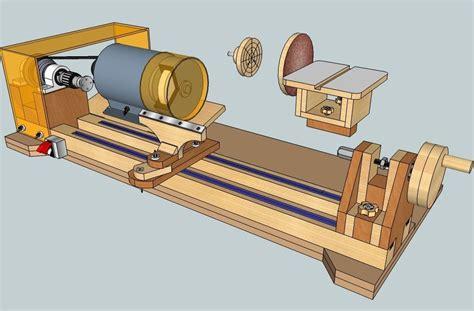 build diy    wood lathe machine  plans wooden