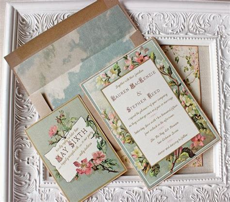mint green and pink wedding invitations vintage floral frame wedding invitation blush pink antique gold roses mint green 2282386 weddbook