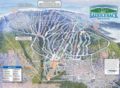 maine ski resorts map 2010 11 saddleback trail map new england ski map