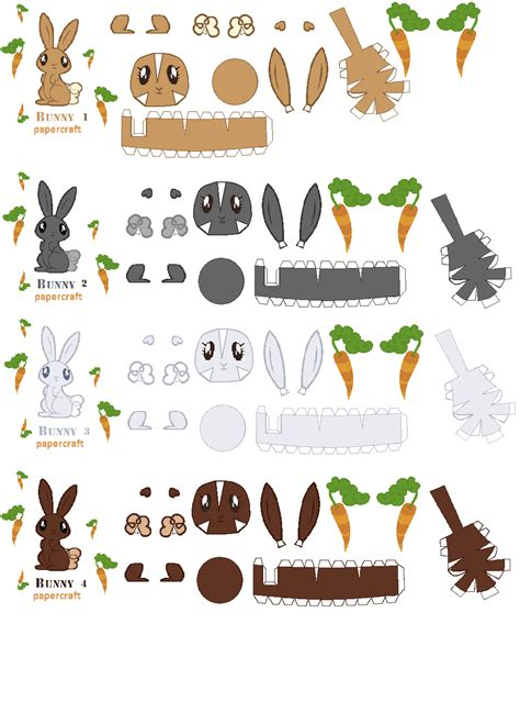 Papercraft Bunny - flutter bunny papercraft by mapspony on deviantart