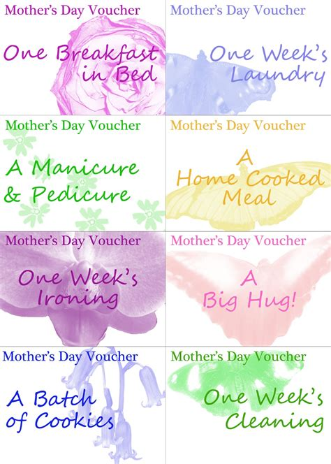 printable vouchers for days out in uk unfortunately oh printable mother s day vouchers