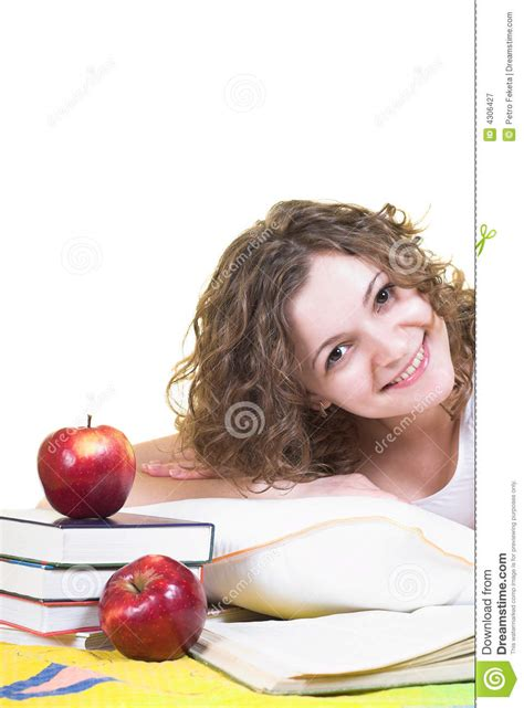 studying in bed studying in the bed royalty free stock photography image 4306427