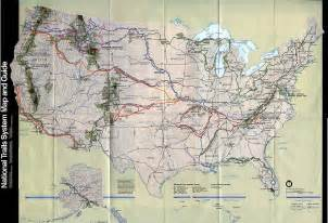 national trails system physical map united states size
