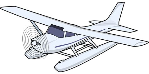 water plane coloring page free vector graphic plane seaplane airplane aircraft