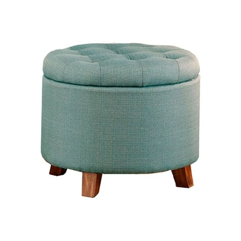 Light Blue Ottoman Poundex Storage Ottoman In Light Blue F7071