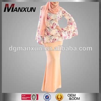 Baju Dress New 2017 2017 customized baju kurng new fashion design printing sleeve muslimah baju kebaya