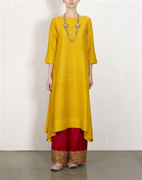 Baju India Kurti 5 yellow kurta with embroidered lajjoo v 234 tements
