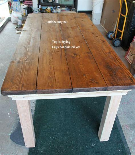 build a farmhouse best 25 build a table ideas on pinterest outdoor