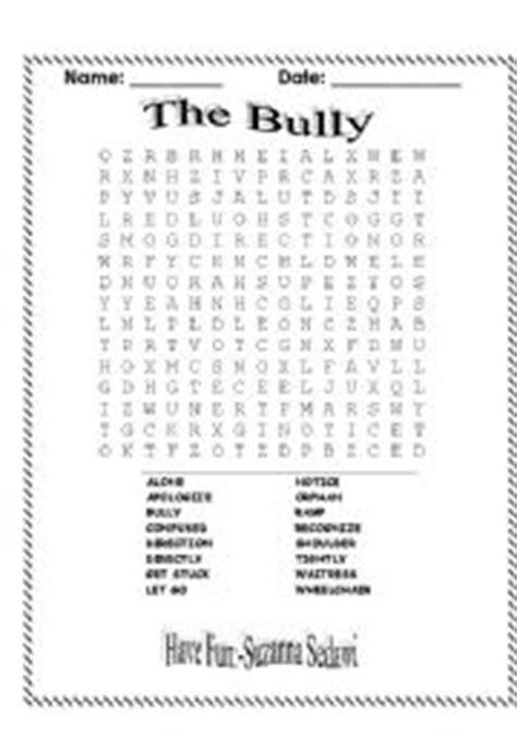 printable word search on bullying anti bullying word search images frompo 1