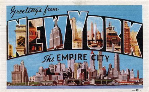 Greetings From New York City by Greetings From New York New York The Empire City Large