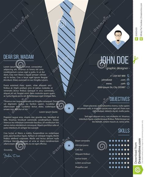 cool cover letter resume template business suit