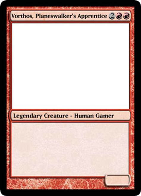 magic trading card template parlez vous vorthos magic the gathering