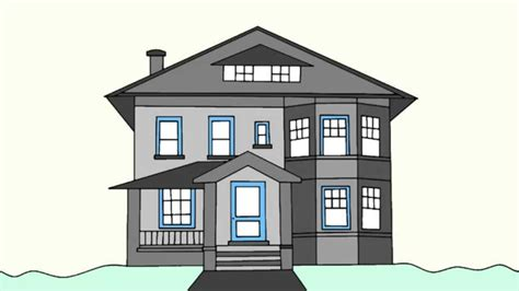 how to draw a house how to draw a house step by step for beginners youtube