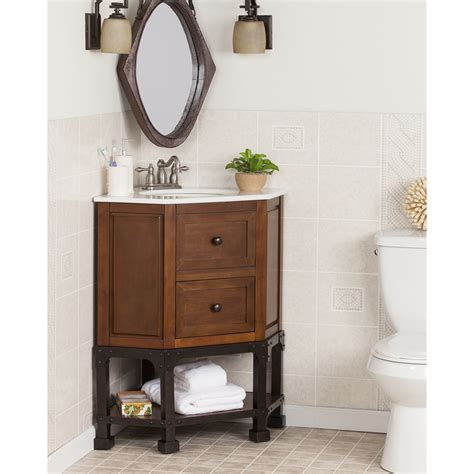 corner vanity top sink carverdale corner bath vanity sink w marble top bath