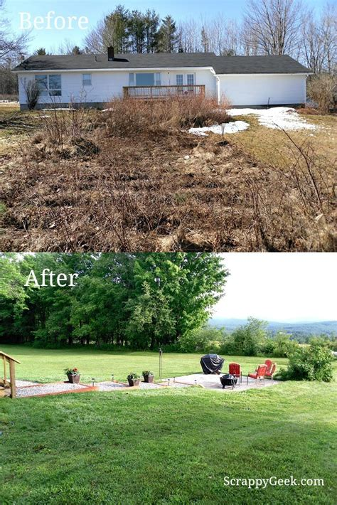 backyard makeovers before and after our diy backyard makeover