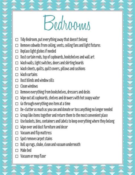 bedroom cleaning checklist bedrooms spring clean checklist c forever organised