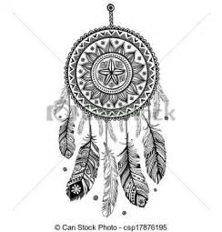 eps vectors of ethnic american indian dream catcher can be
