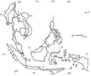 Asia Rivers Outline Map by Blank Map Southeast Asia