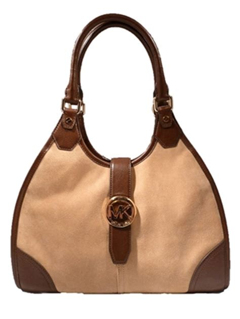Michael Michael Kors Hudson Soft Large Shoulder Bag by Michael Kors Hudson Large Suede Leather Shoulder Tote Walnut