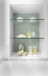 in shower shelf how do you secure the glass shelves in the shower niche