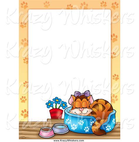 cat wallpaper borders murals royalty free cat border stock animal designs
