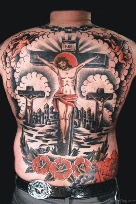 colored cross tattoos 70 fabulous religious tattoos for back