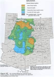 arizona water table map ha 730 c colorado plateaus aquifers introduction