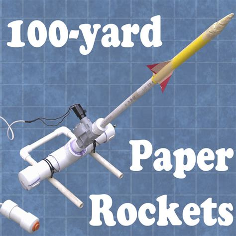 How To Make Paper Rockets - 100 yard paper rocket launcher 5 steps with pictures