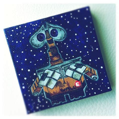 custom order disneypixar walle mini canvas  stacechase