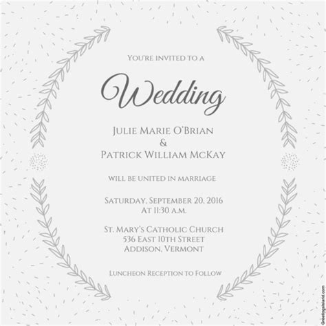 wedding announcement template wedding invitation template 71 free printable word pdf