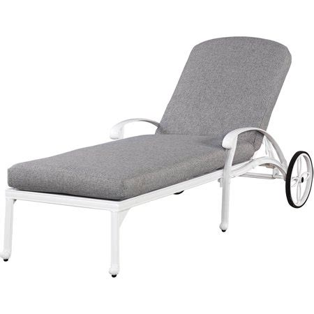 Walmart Chaise Lounge Chairs Outdoor by Home Styles Floral Blossom White Outdoor Chaise Lounge