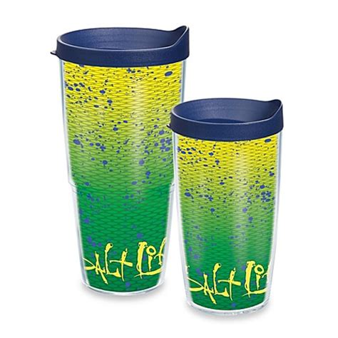 tervis bed bath and beyond tervis 174 salt life 174 dorado wrap tumbler with blue lid bed