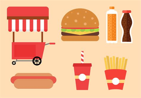 food vector fast food vector download free vector art stock