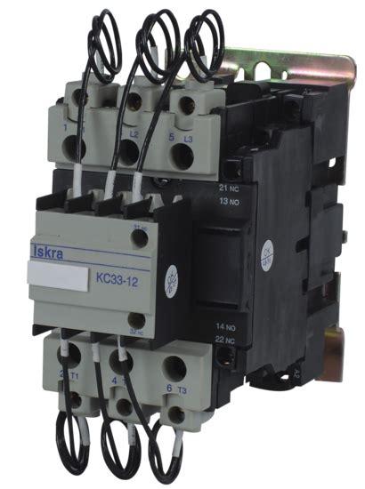 abb capacitor duty contactor contactors iskra
