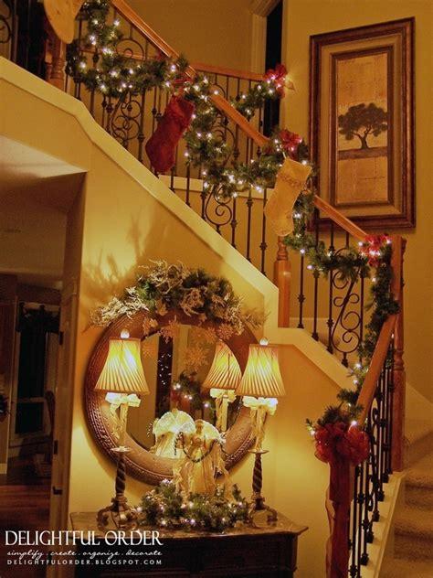 christmas banister staircase christmas decorating christmas pinterest